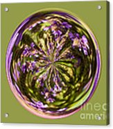 Purpble Wildflower Orb Acrylic Print