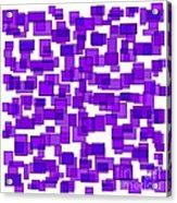 Purple Abstract Acrylic Print by Frank Tschakert