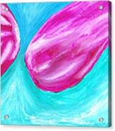 Purple Abstract Acrylic Print by Jera Sky
