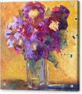 Purple Abstract Acrylic Print