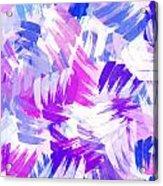 Purple Abstract Paint Pattern Acrylic Print