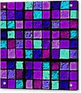 Purple And Aqua Sudoku Acrylic Print