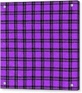 Purple And Black Plaid Textile Background Acrylic Print