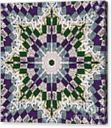 Purple And Green Patchwork Art Acrylic Print