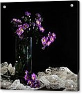 Purple And Lace Acrylic Print by Diana Angstadt