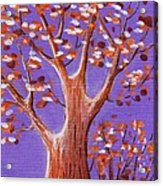 Purple And Orange Acrylic Print