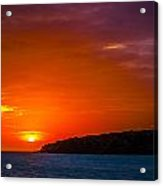 Purple And Orange Sunset Acrylic Print