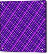 Purple And Pink Diagonal Plaid Fabric Background Acrylic Print
