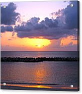 Purple And Pink Sunset Caribbean Dream Acrylic Print