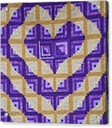Purple And Yellow Endless Love Log Cabin Quilt Acrylic Print