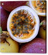 Purple And Yellow Passion Fruit Acrylic Print