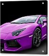 Purple Aventador Acrylic Print