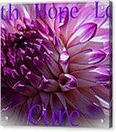 Purple Awareness Support Acrylic Print