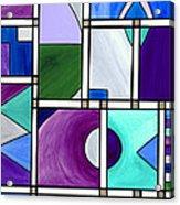 Purple -blue -green  Abstract 2 Acrylic Print