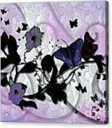 Purple Butterflies Acrylic Print