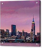 Purple City Acrylic Print