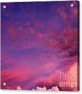 Purple Clouds Majesty Acrylic Print