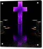 Purple Cross Acrylic Print