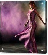 Purple Dancer Acrylic Print