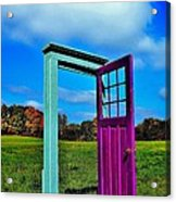 Purple Door - Alternate Reality - Canada Acrylic Print