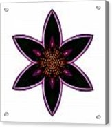Purple Echinacea I Flower Mandala White Acrylic Print