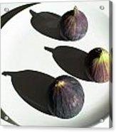 Purple Figs On A White Plate Acrylic Print