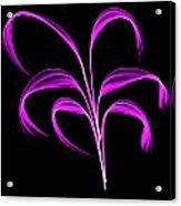 Purple Flaring Plant Acrylic Print