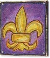 Purple Fleur De Lis Acrylic Print