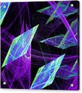 Purple Floating Diamonds Acrylic Print
