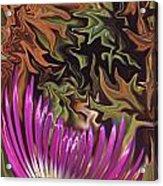 Purple Flower Abstract Acrylic Print
