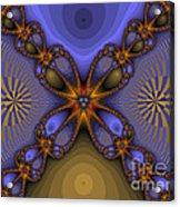 Purple  Flower Fractal Acrylic Print
