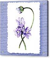 Purple Flowers Serenade Botanical Impressionism Acrylic Print