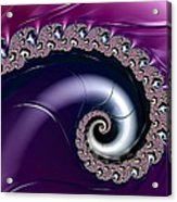 Purple Fractal Spiral For Home Or Office Decor Acrylic Print