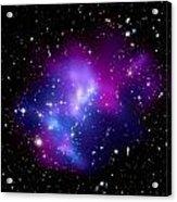 Purple Galaxy Cluster Macs J0717 Acrylic Print