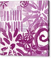 Purple Garden - Contemporary Abstract Watercolor Painting Acrylic Print