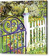 Purple Garden Gate Acrylic Print