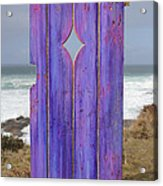 Purple Gateway To The Sea  Acrylic Print by Asha Carolyn Young