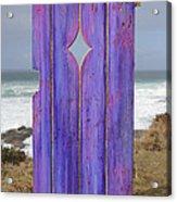 Purple Gateway To The Sea  Acrylic Print