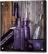 Purple Glass Acrylic Print