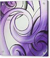 Purple Glass Koru Acrylic Print