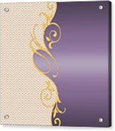 Purple Gold Chevron Acrylic Print