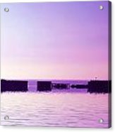 Purple Harbor Acrylic Print
