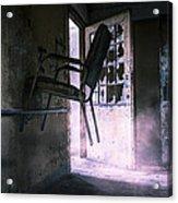 Purple Haze - Strange Scene In An Abandoned Psychiatric Facility Acrylic Print