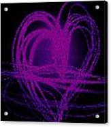 Purple Heart Acrylic Print by Aya Murrells