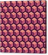 Purple Hexagonal Pattern Acrylic Print
