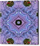 Purple Hydrangea Flower Abstract Acrylic Print