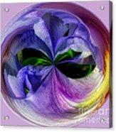 Purple Iris Orb Acrylic Print