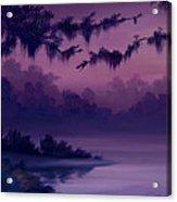 Purple Jungle Acrylic Print