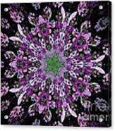 Purple Lilac Kalidescope Acrylic Print