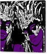 Purple Mask Acrylic Print